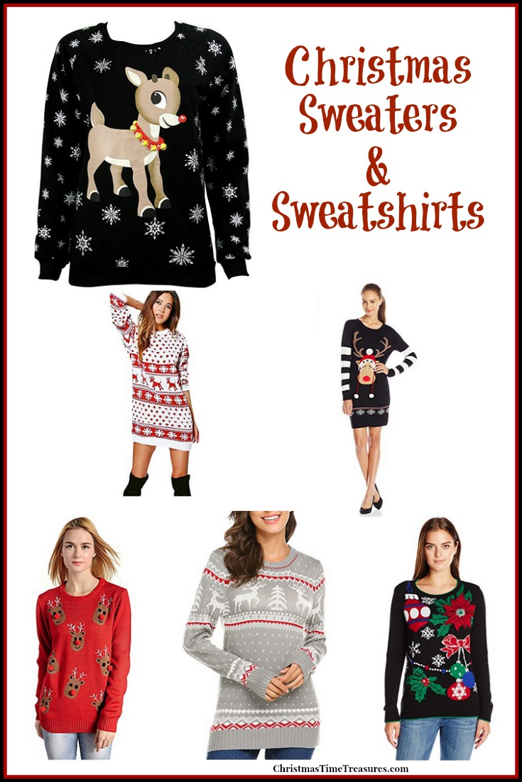 Holiday Sweaters & Sweatshirts