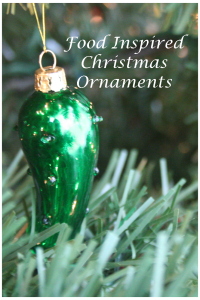Great selection of food inspired Christmas ornaments