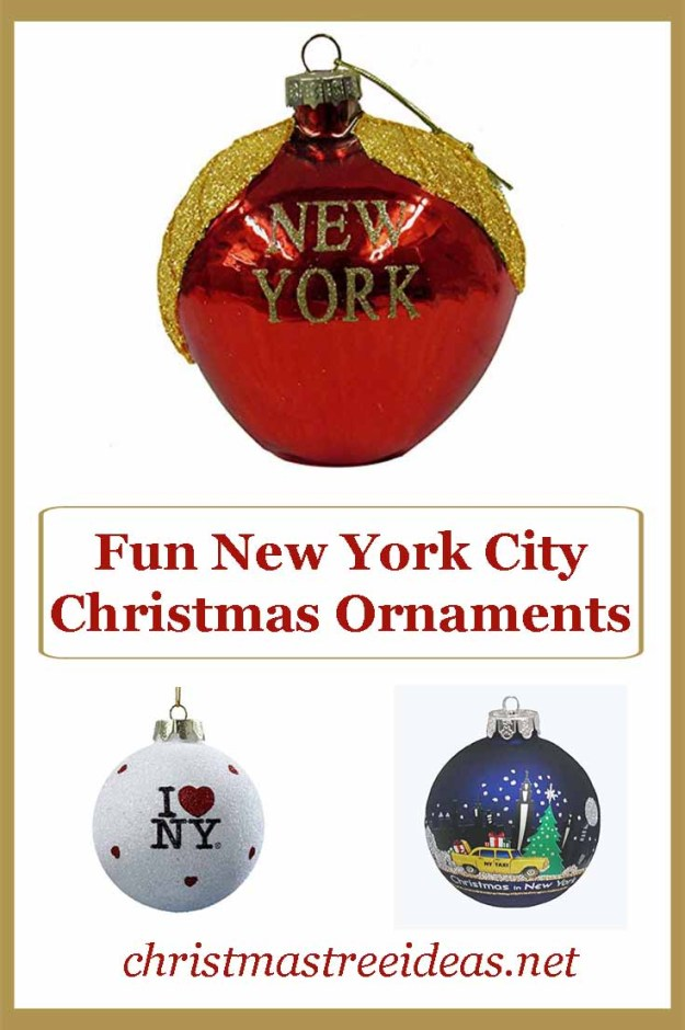 Fun New York themed Christmas Ornaments