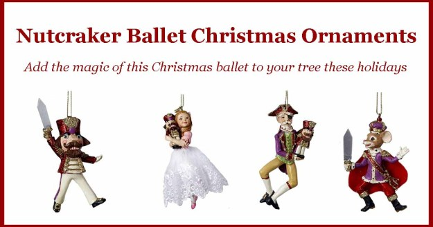 Nutcracker Ballet Christmas Ornaments