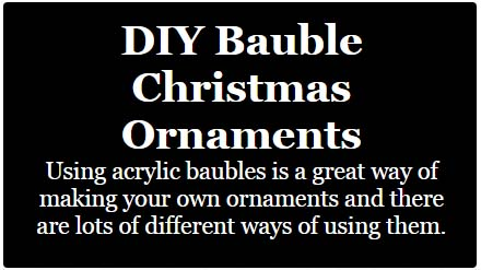 diy bauble christmas ornaments