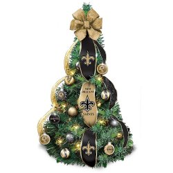 Create a New Orleans Saints Christmas tree that fans will love with a few New Orleans Saints Christmas ornaments.