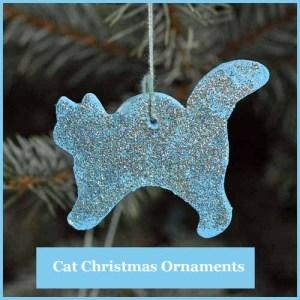 Cat Christmas Tree Ornament
