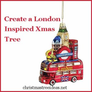create a london inspired christmas tree