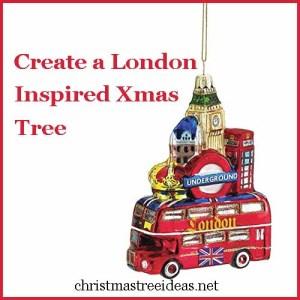 create a london inspired christmas tree