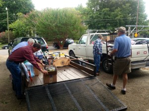 Men Assisting with the Fall Yard Sale