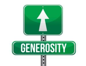 generosity road sign illustration design over a white background