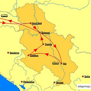 stepmap-karte-serbien-rundreise-1667525