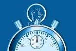 Stoppuhr mit Manager im Zeitmanagement