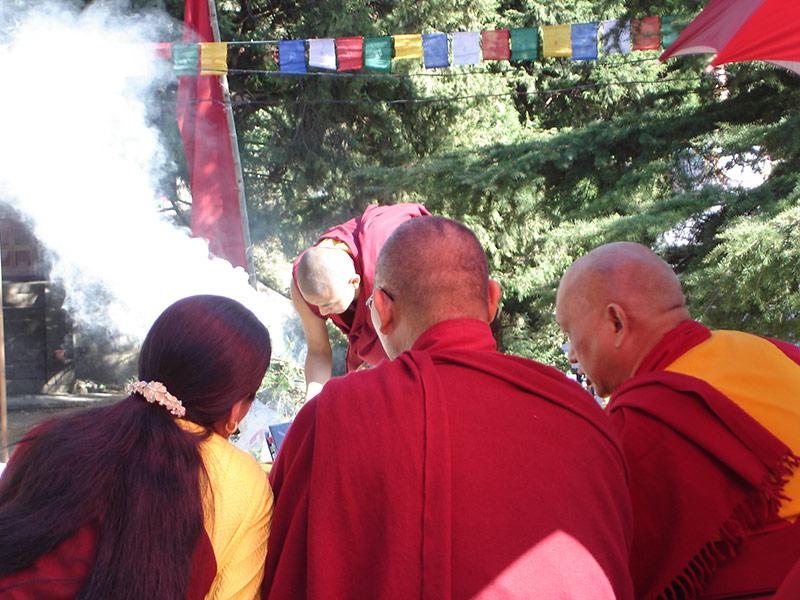 retraite bouddhiste en Inde