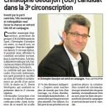 [Presse] Lancement de la campagne de Christophe Geourjon pour les élections législatives