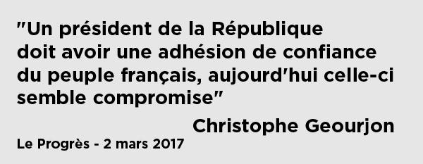 [PRESSE]Le progrès – Fillon reste en course : ce qu'ils en disent – Réaction de Christophe Geourjon