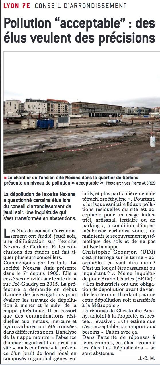 Dépollution de l'ancien site industriel NEXANS – Lyon 7ème