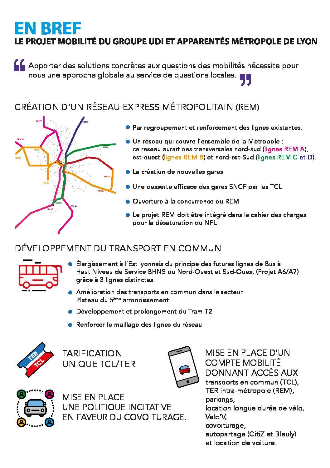 Projet mobilité : création d'un Réseau Express Métropolitain (REM)