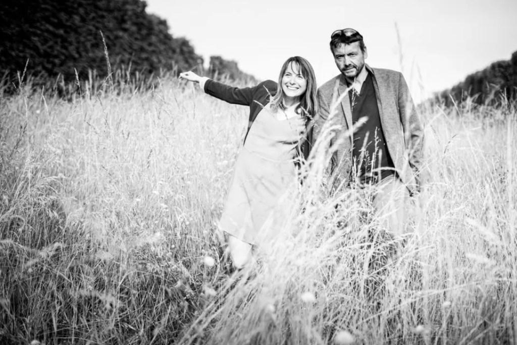 Marche noir et blanc La séance d'engagement Christophe Lefebvre Photographe Yvelines
