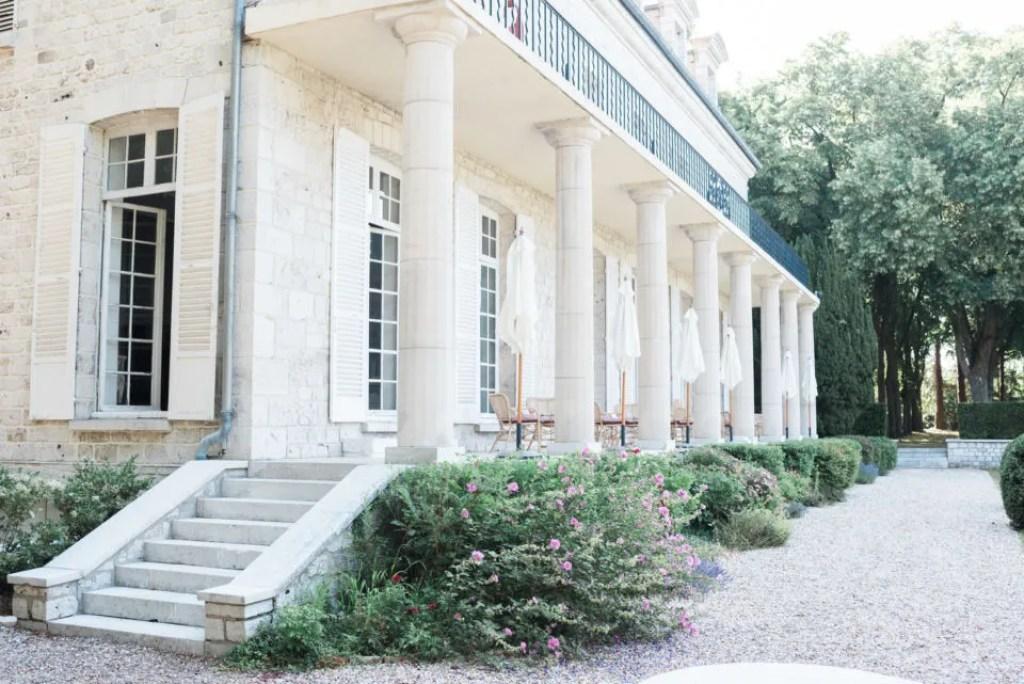 Escalier accès terrasse Domaine du Chesney Christophe Lefebvre Photographe
