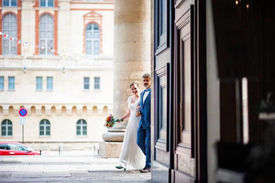 Mariage Christophe Lefebvre Photographe arrivée de la mariée église Saint-germain-en-laye