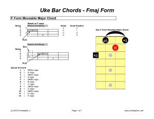 Uke Bar Chords - Fmaj Form