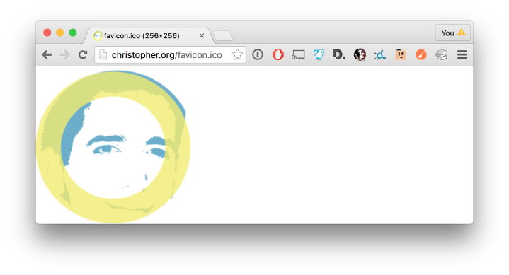 Favicon File on Display in Browser
