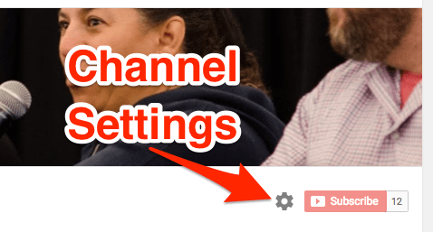YouTube Channel Settings Icon