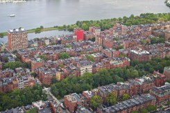 "Boston ""Back Bay"" seen from the ""Skywalk Observatory"" atop the Prudential Tower."