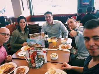 Team breakfast at Denny's