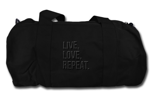 Liveloverepeat Duffel Bag