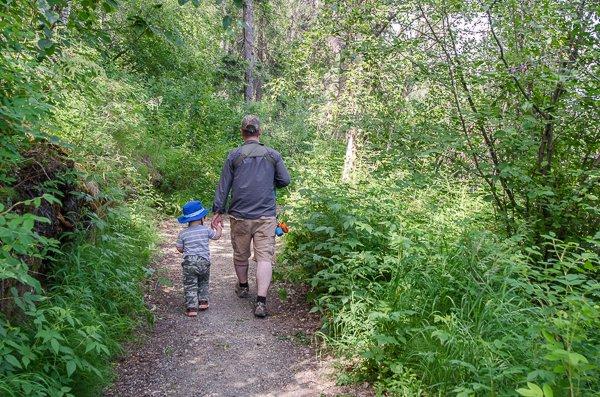 Hiking in Christopher Creek
