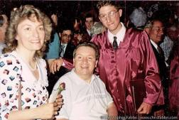 HS graduation 1992 with my parents
