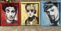 Beastie Boys portraits painted by Chris Fabbri 2016