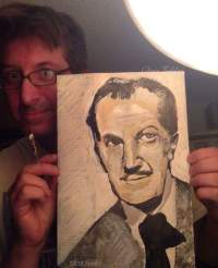"""2016 Vincent Price, acrylic on paper 12 1/2""""x8 1/2"""""""