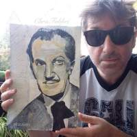 2016 Vincent Price, acrylic on paper 12 1/2″x8 1/2″