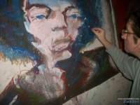 Hendrix 2015, Chris Fabbri portrait painting