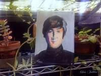 2017 John Lennon, acrylic on metal