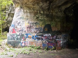 The Witch, graffiti, Deliveranceville Quarry.