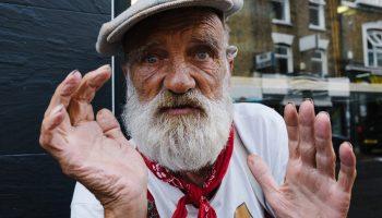 Micky street portrait shorditch