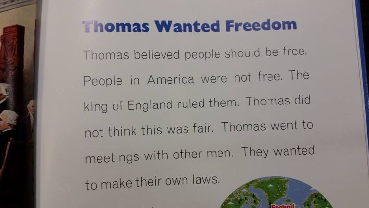 """Thomas Wanted Freedom excerpt says """"Jefferson believed people should be free."""""""