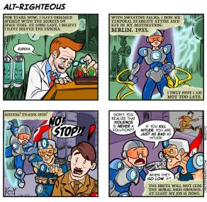 Alt Righteous: Nazi Puncher cartoon by Christopher Keelty