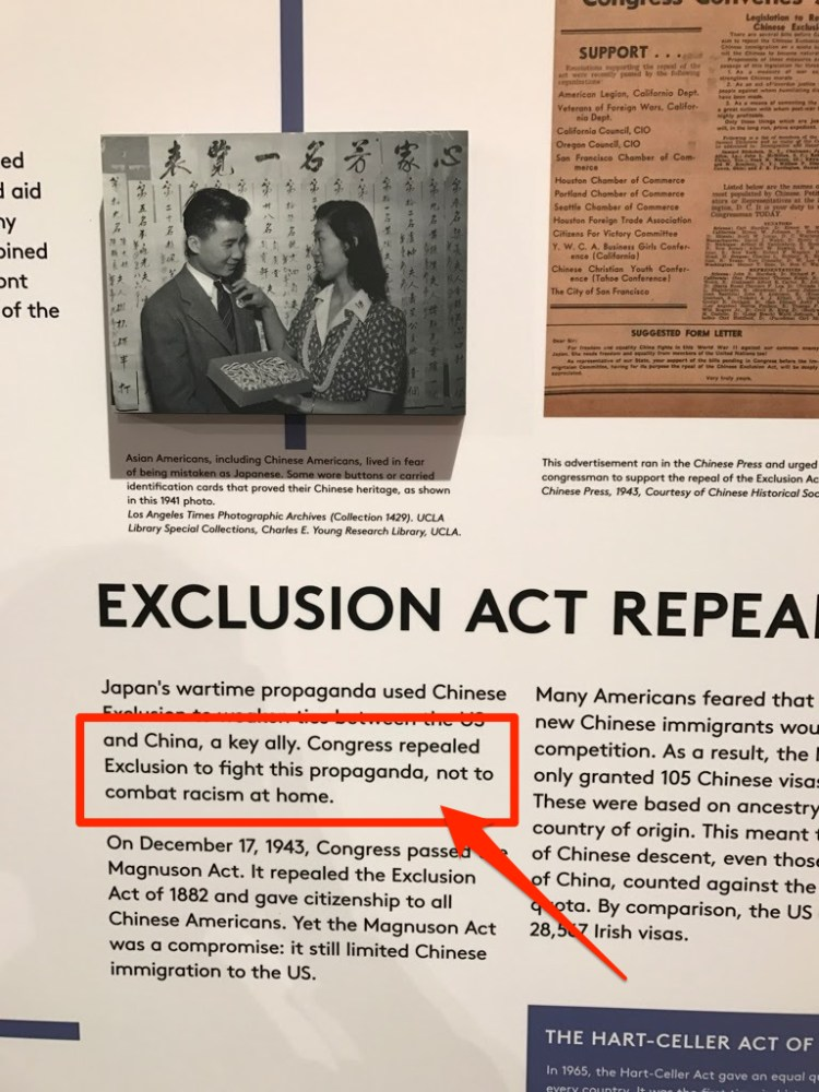 The Repeal of the Chinese Exclusion Act at Museum of Food and Drink