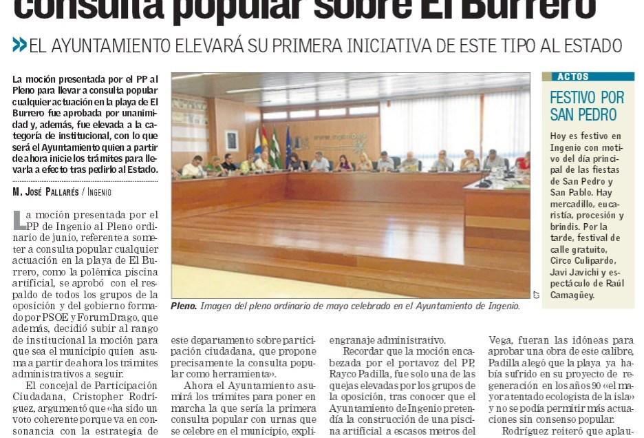 Ingenio convierte en institucional la consulta sobre El Burrero.