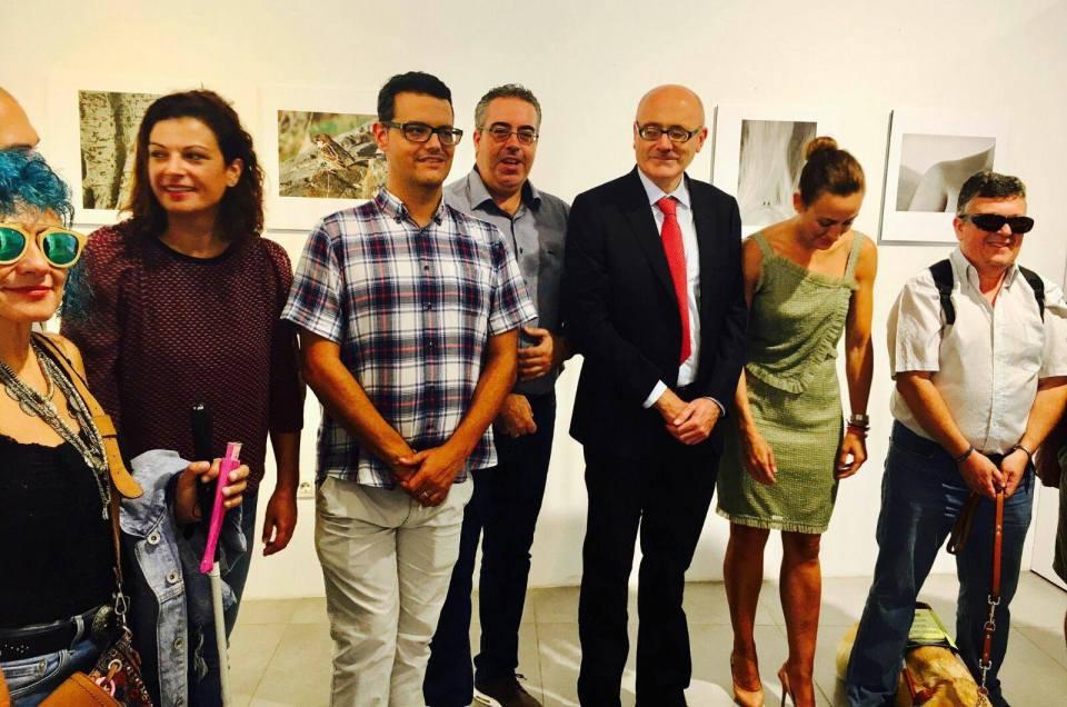El primer acto oficial como concejal de cultura, la exposición fotográfica «Cámara Lúcida».