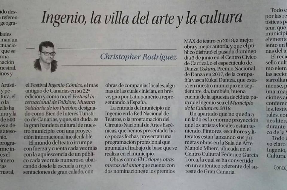 Ingenio, la Villa del Arte y la Cultura.