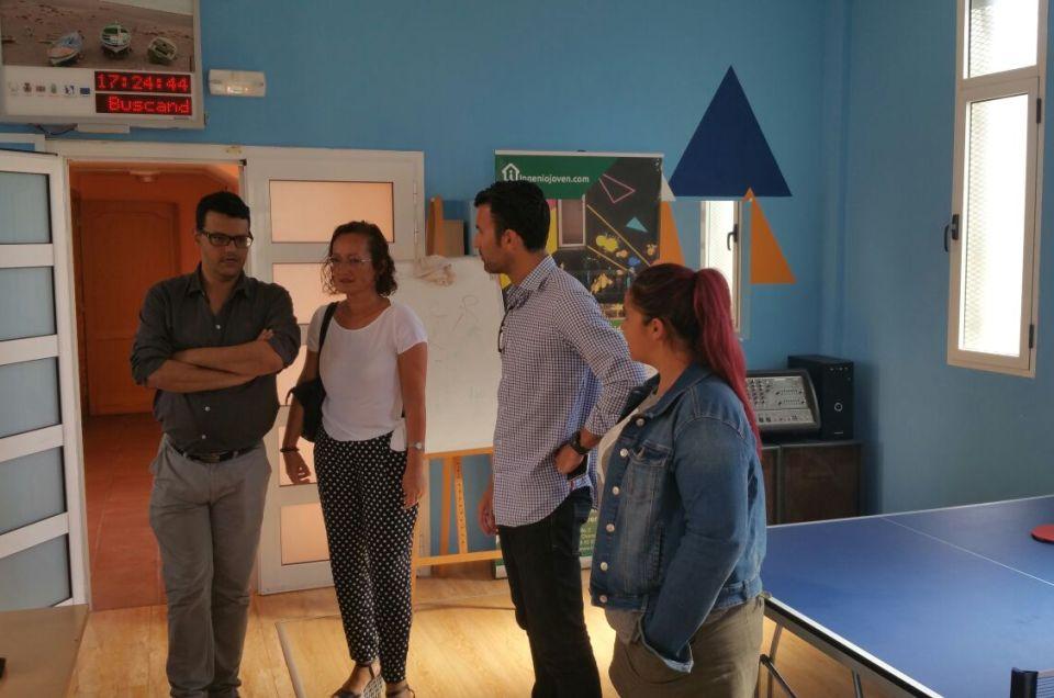 Visita oficial del Ayuntamiento de Mogán al Espacio Creativo Joven.