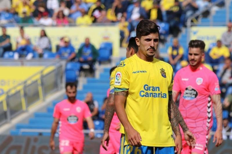 Cristian Cedrés, debut con la UD Las Palmas.