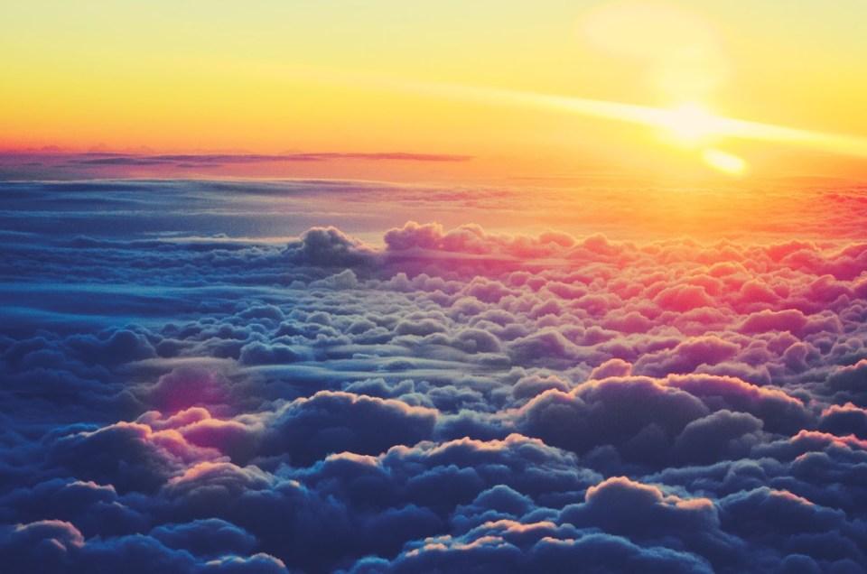 La nube y el sol.