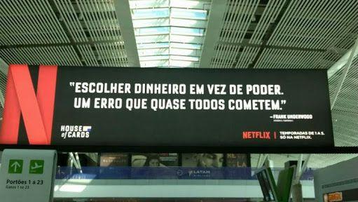Divulgação de House of Card, pela Netflix