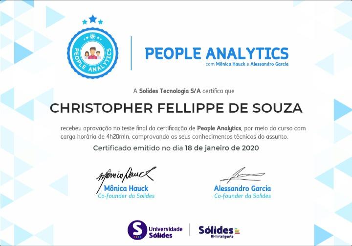 Certificação de People Analytics, da Universidade Sólides.