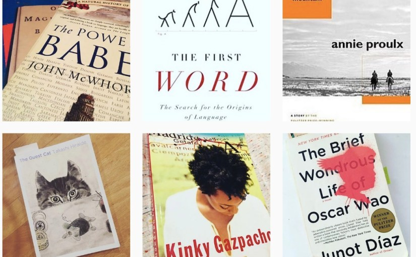 Here's the reading list from my resolution to only read books from women and writers of color