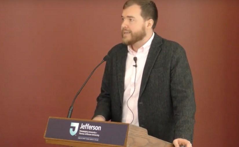 Chris Wink at podium