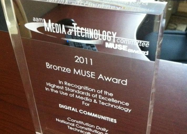 American Association of Museums honored our work with a bronze award